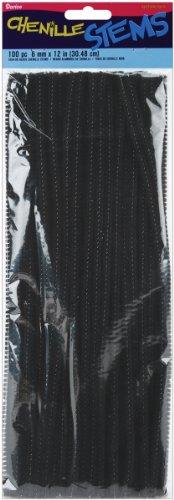 Darice 100 Piece Chenille Stems Black
