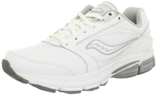 Saucony Women's Echelon LE2 Walking Shoe,White/Silver,9.5 M - Saucony White Shoes