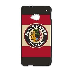 HTC One M7 Phone Case for CHICAGO BLACKHAWKS LOGO pattern design GCB80QLG594673