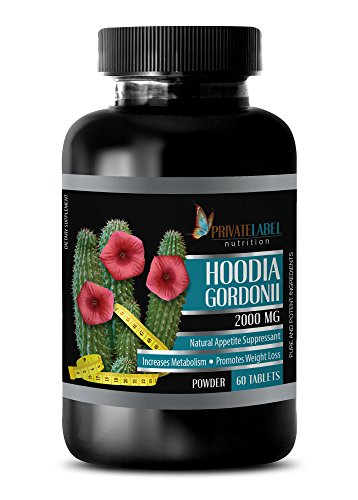 Private Label weight loss supplements - HOODIA GORDONII 2000 MG - NATURAL APPETITE SUPPRESS - hoodia gordonii - 1 Bottle (60 Tablets)