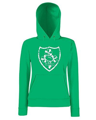 T-Shirtshock - Sudadera hoodie para las mujeras WC0271 CLEARANCE - RUGBY T-SHIRT - IRELAND Verde