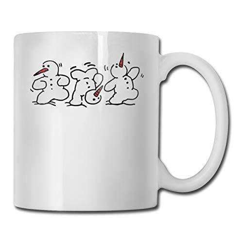 (Riokk Az Dancing Snowmen 11oz Coffee Mugs Funny Cup Tea Cup Birthday Ceramic)