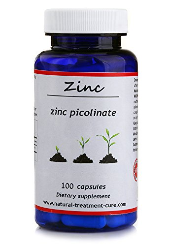 Hekma Center- Zinc Picolinate 75 mg- Natural- 100 Capsules- for Zinc Deficiency- Hair Loss - Immune System - Vegetarians and Vegans