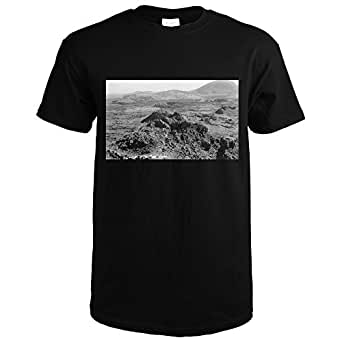 Idaho - Panoramic View of Craters of the Moon Photograph (Black T-Shirt Small)