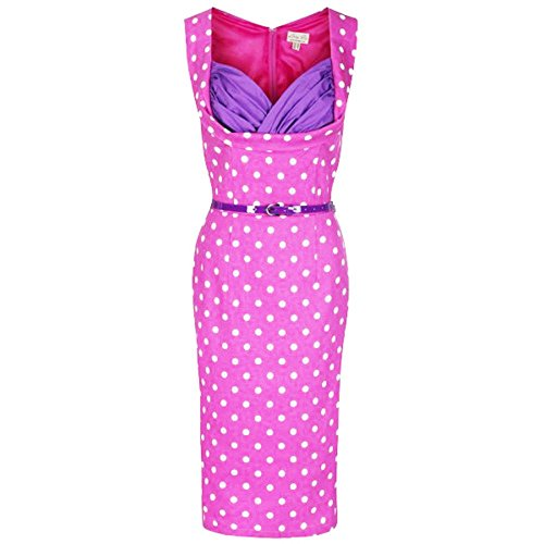 Lindy-Bop-Vanessa-Vintage-50s-Cute-Low-Cut-Polka-Dot-Wiggle-Dress