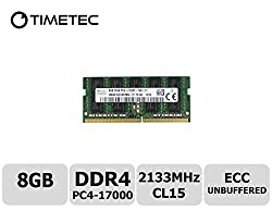 Timetec Hynix 8GB DDR4 2133MHz PC4 17000 ECC Unbuffered 1.2V CL15 2Rx8 Dual Rank 260 Pin Sodimm Server Memory Ram Module Upgrade (HMA41GS7AFR8N-TFT0) (8GB)
