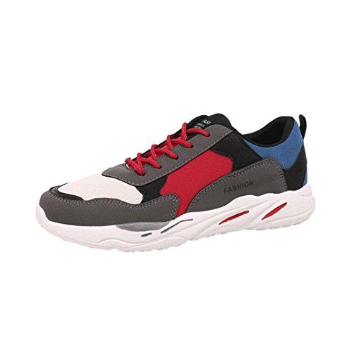 UOMOGO? Retro Lightweight Sneaker, Scarpe da Ginnastica Basse Uomo (Asia 44, Grigio)