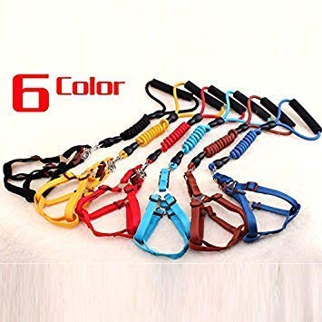 1Pc PT00082RE, About 140 cm Length Double-Head Handmade Pet Dog Leash Extended Walking Running Jogging Dog Lead Hand Made Double Headed Traction Rope