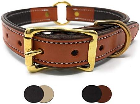 Regal Dog Products Collar de Perro de Piel Acolchada con Piel ...