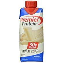 Premier Nutrition High Protein Shake, Vanilla, 11 oz.,18 Count by Premier Nutrition