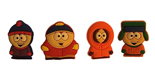 South Park Set of 4 Characters PVC Pin Set - Cartman, Kenny, Kyle and Stan ()