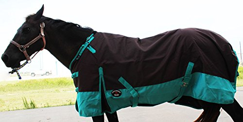 CHALLENGER 66'' 1200D Turnout Rain Horse Sheet Light Winter Blanket 371 by CHALLENGER (Image #1)