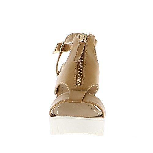 Camello por mayor sandalias zapatos de tacón 12 cm