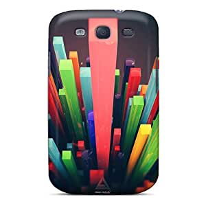 Snap-on Cases Designed For Galaxy S3- 3d Bars
