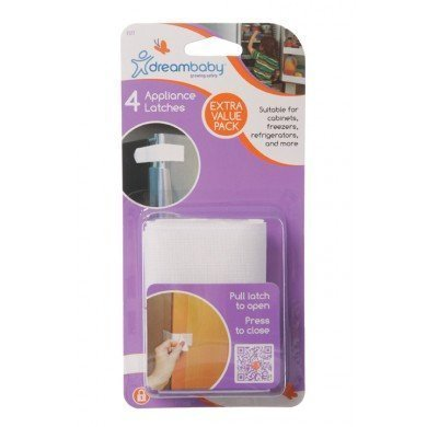 Dream Baby Appliance Latch White - 8 Pack by Dreambaby (Image #1)