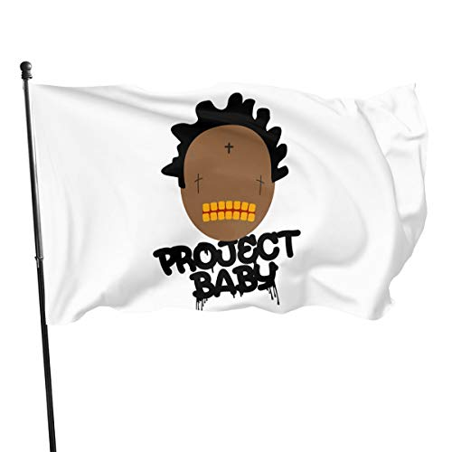 ANAHSASD 3x5 Foot Flag Kodak Black Project Baby Rap Flag Vivid Color and UV Fade Resistant with Brass Grommets 3 X 5 Feet 3x5'' Flag