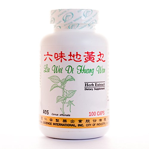 Super 6 Kidney Tonic Dietary Supplement 500mg 100 capsules (Liu Wei Di Huang Wan) A05 100% Natural Herbs