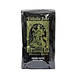 VALHALLA JAVA Bagged Coffee Grounds [12 Oz.] USDA Certified Organic, Fair Trade, Arabica, Robusta (1-Pack)