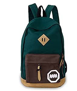 Women's Korea Canvas Cute Rucksack Satchel Travel Bag Schoolbag Backpack