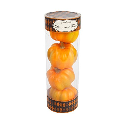 FT-2549A 4pcs Mini Pumpkins in Box-24 boxes (Yellow) by Flora Bunda