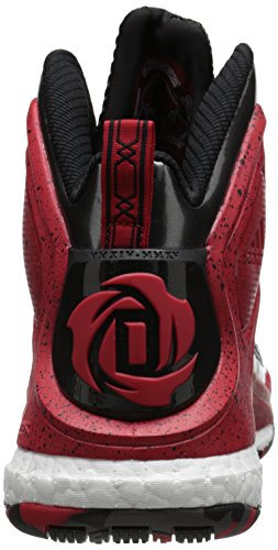 Scarpa Da Basket Adidas Performance Mens D Rose 5 Boost Nera / Scarlatta / Bianca