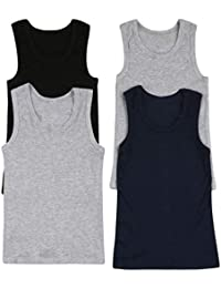 Boys Pack of 4 Tank Tops