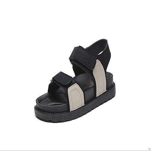 Sandalias De Playa De Arena Gruesa Calzado Femenino Blanco crema