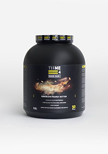 Time 4 Mass Gain 2.5kg - Advanced Timed Release Protein Formula + Dual Carb Blend - Chocolate Peanut Butter Flavour by Time 4 Nutrition by Time 4 Nutrition