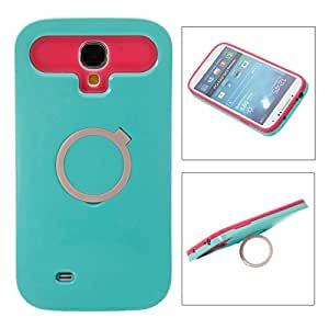 Mzamzi - gran valor silicone rubber & pc noctilucent ring protective case for samsung s4/i9500 dark green