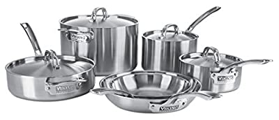 Viking 4515-1S05S Professional 5-Ply Cookware 5 Piece Set, Silver