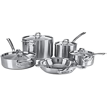 Lovely Viking Professional 5 Ply Stainless Steel Cookware Set, 10 Piece