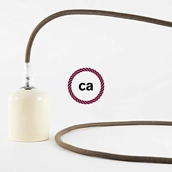 2x0.75 creative cables Fil /Électrique Rond Gaine De Tissu De Couleur Coton Tissu Uni Marron RC13-1 m/ètre