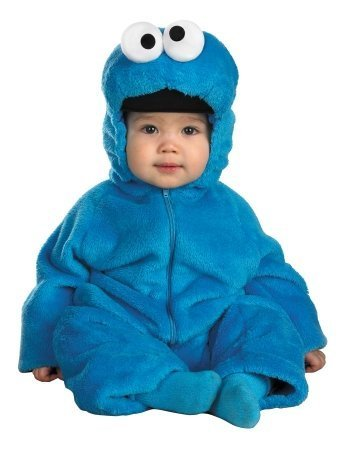 Costumes For All Occasions Dg6598W Cookie Monster Deluxe 12-18Mon -