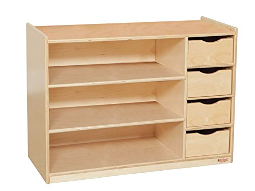 Wood Designs WD14475 Storage Center with Drawers, 26 x 36 x 15'' (H x W x D) by Wood Designs