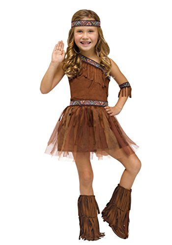 Fun World Girls Give Thanks Toddler Costume, Multicolor, Large (Toddler Indian Costumes)