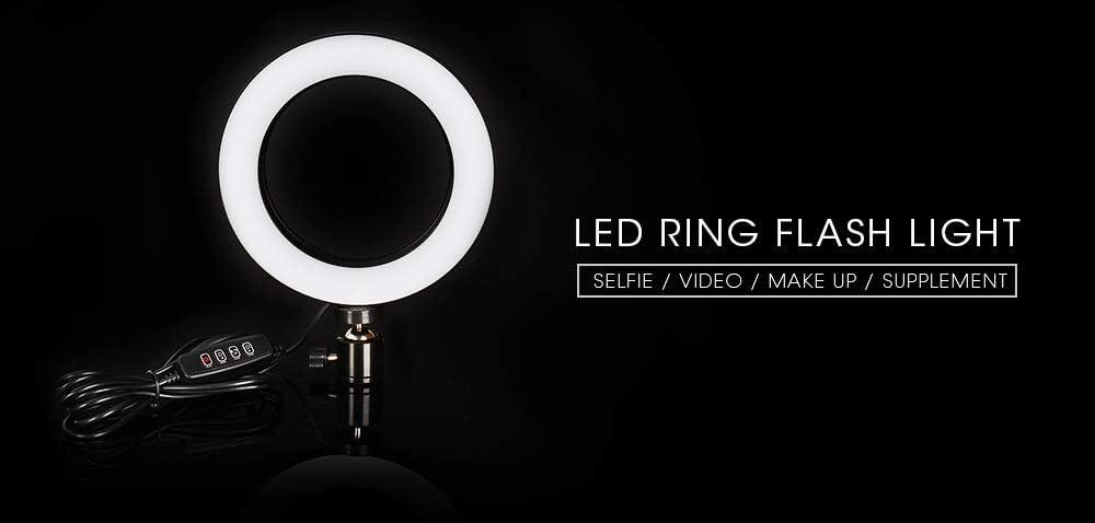 FairOnly 16//26cm Dimmable LED Studio Camera Ring Light Phone Video Light Lamp Selfie Stick Ring Table Fill Light Single lamp 16CM