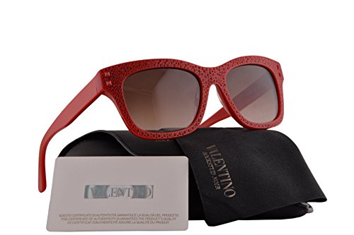 Valentino V679SR Sunglasses Rockstud Rouge w/Gray Gradient Lens 627 V 679SR