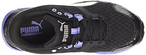 Puma Poseidon v2 Wn - zapatillas de running de material sintético mujer negro - Schwarz (black-puma silver-bleached denim 02)