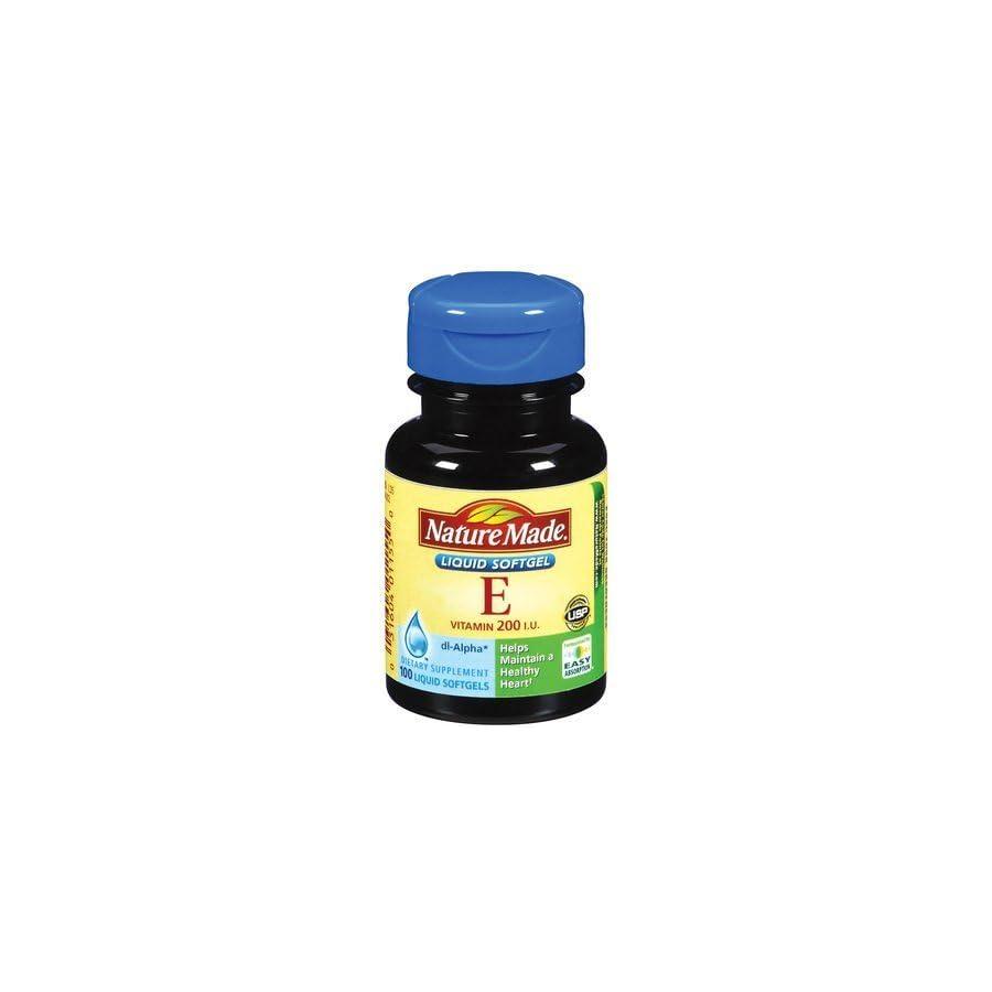 Nature Made Vitamin E 200 IU 100 Liquid Softgels