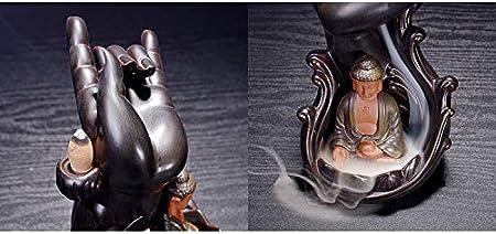 Hztyyier Quemador de Incienso Retro Soporte de Palo Forma de taz/ón Incienso Budista de Palisandro Decoraci/ón del hogar #1