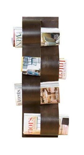Southern Enterprises Wave Wall Mount Magazine Rack - HZ5127
