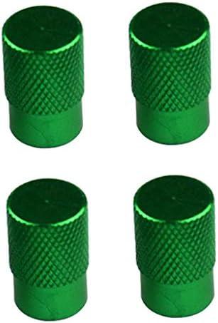 4個 全7色 タイヤ ホイール ステム エアバルブ キャップ ダストカバー 車 トラック 高品質 - 緑