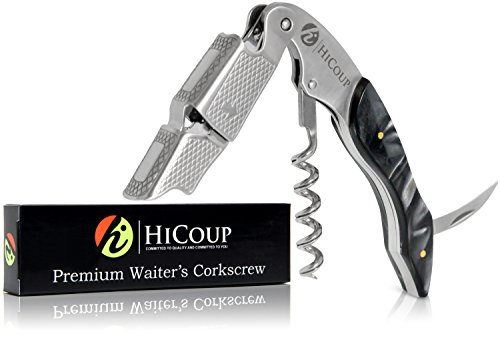 Professional Waiter's Corkscrew by HiCoup - Ying Yang Resin Handle All-in-one Corkscrew, Bottle Opener and Foil Cutter, The Favored Choice of Sommeliers, Waiters and Bartenders Around The World