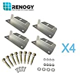 Renogy 4 Sets of Solar Panel Mounting Z Brackets for RV, Boat, Wall and Other Off Gird Roof Installation, 4 Pack