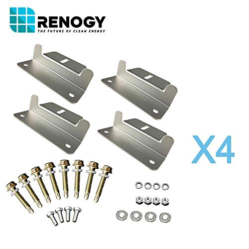 Renogy 4 Sets of Solar Panel Mounting Z Brackets for RV, Boat, Wall and Other Off Gird Roof Installation, 4 Pack by Renogy (Image #9)