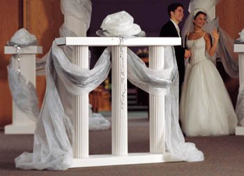 Shindigz Balustrade 4' High White Pair Photo Booth Prop Background Backdrop Party Decoration Scene Setter