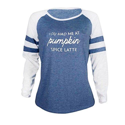 A Zum Langarm blau Geschenk Tops T Muttertag Bluse Plus Size Shirt Damen MRULIC Patchwork Thanksgiving 1pfqOTZwx