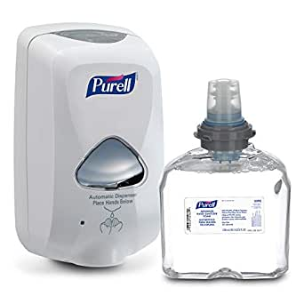 Amazon Com Purell Advanced Hand Sanitizer Foam Tfx Starter Kit 1