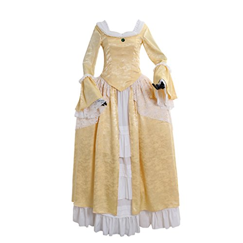 1791's lady 18th Century Victorian Rococo Masquerade Fancy Dress Gown L
