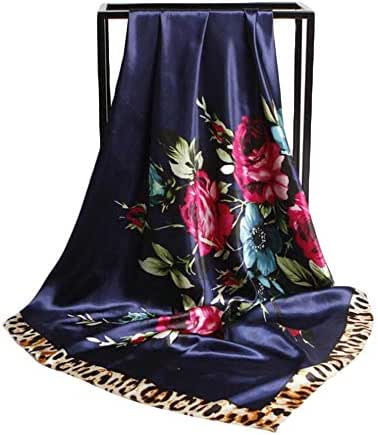 ZHANGQIAO-EU New 90cm Scarf Cosmetic Silk Scarf Sunscreen Scarf (Color : 03, Size : 9090cm)